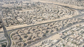 Aerial view suburban Dubai Stock Photography