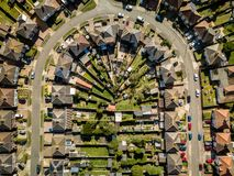 Aerial View of UK Houses stock image. Image of aerial ...