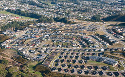 Aerial View of Suburbs Royalty Free Stock Images