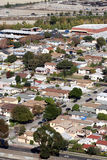 Aerial view of suburbs. Aerial view of modern buildings in suburban neighborhood Royalty Free Stock Photography