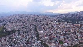 Aerial view of the suburbs in Mexico City. TAKE 3. Aerial view of the suburbs in the metropolitan area of Mexico City. TAKE 3 stock footage