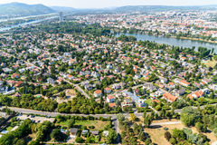 Aerial View Of Suburbs Roofs In Vienna Royalty Free Stock Photos