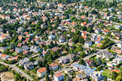 Aerial View Of Suburbs Roofs In Vienna Royalty Free Stock Photography
