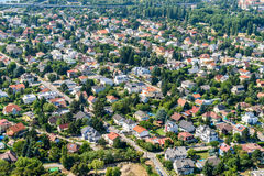 Aerial View Of Suburbs Roofs In Vienna Stock Image