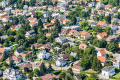 Aerial View Of Suburbs Roofs In Vienna. Austria Royalty Free Stock Photo