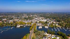 Aerial view of Suce sur Erdre in Loire Atlantique stock photo