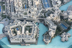 Aerial view Downtown Dubai stock photography