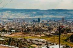 Aerial view of Sulaimanya city,Iraq. Sulaimanya city in Kurdistan region in Iraq Stock Photography