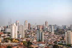 Aerial view of Sumare and Perdizes neighborhood in Sao Paulo - Sao Paulo, Brazil. Aerial view of Sumare and Perdizes neighborhood in Sao Paulo in Sao Paulo Royalty Free Stock Image