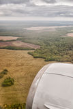 Aerial view of summer field Royalty Free Stock Photos
