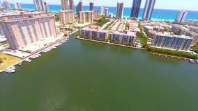Aerial view of Sunny Isles Beach Royalty Free Stock Photography