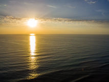 Aerial View of a Sunrise Over the Ocean. S Stock Images
