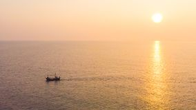Aerial view sunrise with sea. Beautiful Aerial view sunrise with sea Stock Photos