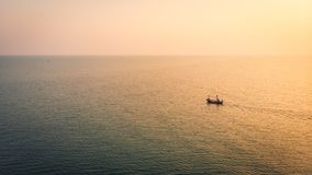 Aerial view sunrise with sea. Beautiful Aerial view sunrise with sea Stock Photography