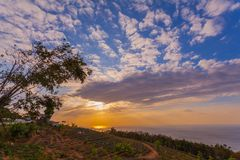 Aerial view during sunset at Khao Rang viewpoint. Aerial view during sunset at Khao Rang the landmark viewpoint of Phuket place in the central of Phuket town. on Royalty Free Stock Photos