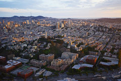 Aerial view sunset san francisco Stock Images