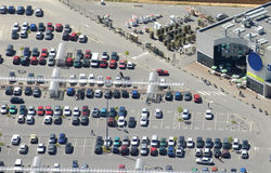 Aerial view of a supermarket Royalty Free Stock Photography