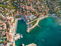 Aerial view of Supetar in Croatia Royalty Free Stock Photography