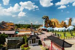 Aerial view of   Suphanburi City Pillar Shrine Royalty Free Stock Photo