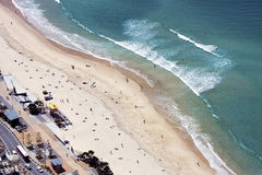 Aerial view of Surfers Paradise beach, Gold Coast Stock Photography