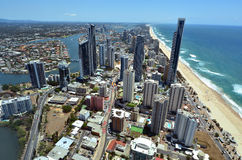 Aerial view of Surfers Paradise Queensland Australia Royalty Free Stock Image