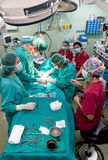 Aerial view of surgery operation Stock Image