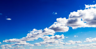 Aerial View of Surreal Clouds in Vivid Blue Sky Stock Image