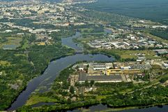 Aerial view. Of the surroundings Bydgoszcz in Poland Stock Images