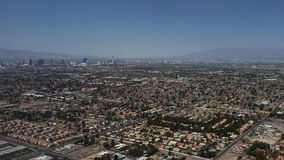 Aerial view of the surroundings of the city of Las Vegas, Nevada. Travel and tourism in the United States of America, style and design in construction and royalty free stock image
