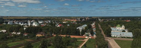 Aerial view of Suzdal, Russia Stock Image