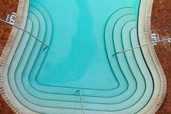 Aerial View of Swimming Pool Stock Images