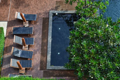 Aerial view of swimming pool at luxury resort Stock Photography