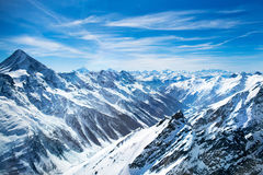 Aerial view of Swiss Alps Stock Photo