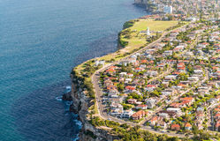 Aerial view of Sydney coastline, Australia Stock Photo