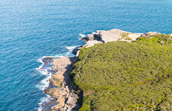 Aerial view of Sydney coastline, Australia Royalty Free Stock Photo