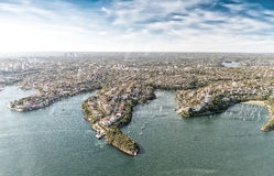 Aerial view of Sydney coastline, Australia Royalty Free Stock Images