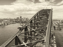Aerial view of Sydney Harbour Royalty Free Stock Photos