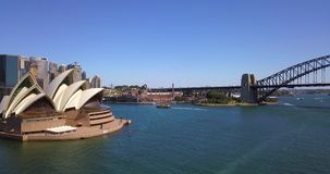 Aerial View of Sydney Harbour stock video