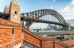 Aerial view of Sydney Harbour Bridge, NSW Australia Stock Images