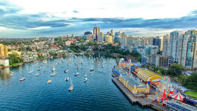 Aerial view of Sydney Harbour and Kirribilli Stock Images
