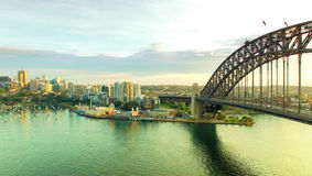 Aerial view of Sydney Harbour and Kirribilli Royalty Free Stock Photo