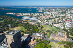 Aerial View of Sydney Looking East Stock Photos