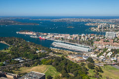 Aerial View of Sydney Looking East Royalty Free Stock Photography