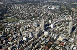 Aerial view of the Sydney suburbs stock photos