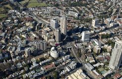 Aerial view of the Sydney suburbs royalty free stock image