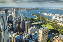 Aerial view from Sydney Tower in Sydney Australia.  Stock Photos