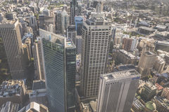 Aerial view from Sydney Tower in Sydney Australia Stock Image
