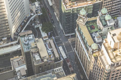 Aerial view from Sydney Tower in Sydney Australia Royalty Free Stock Image
