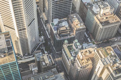 Aerial view from Sydney Tower in Sydney Australia Royalty Free Stock Photos