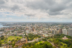 Aerial view from Sydney Tower in Sydney -Australia Royalty Free Stock Photography